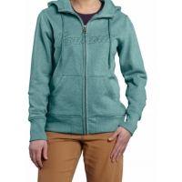 carhartt clarksburg zip front sweatshirt - womens 887000000000, color: coast blue heather, womens clothing size: small, gender: female,