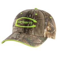 carhartt midland cap for mens 102010-986ofaa, color: realtree/brite lime, mens clothing size: one size,