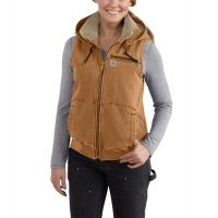 carhartt weathered duck wildwood vest for womens w/ free s&h — 4 models