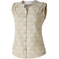 royal robbins cool mesh batik camp shirt - women's 61372132s, color: lt khaki, light khaki, womens clothing size: small,