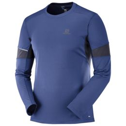 Synthetic Blend SALOMON Mens Agile Long Sleeved Sport T-Shirt