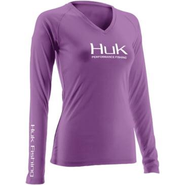 Gray HUK H1200060-GRY-XS Huk Womens Performance Long Sleeve Jacket X-Small