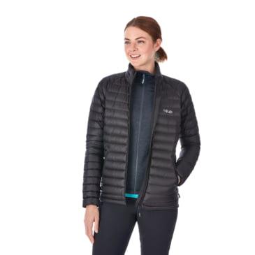 RAB Womens Black /& Seaglass Microlight Insulated Down Jacket Ladies UK 16 BNWT