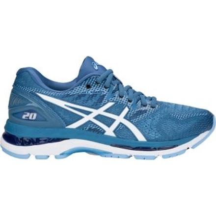 Asics GEL-Nimbus 20 T850N-1401 Women Running Shoes Porcelain Blue//White