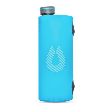 HydraPak UltraFlask Ultra-Light Collapsible BPA-Free Water Bottle Malibu Blue