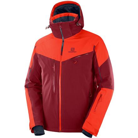 Salomon Men/'s RS Warm Jacket Medium Biking Red