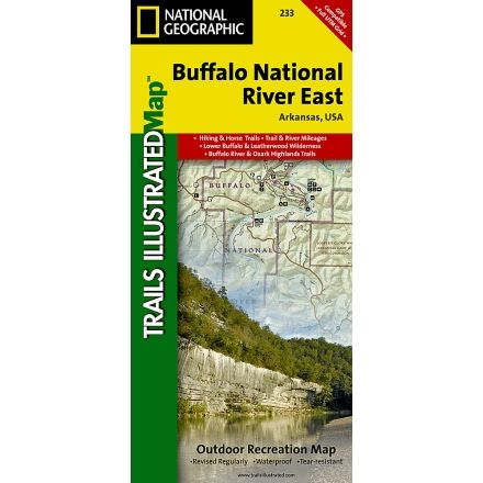 National Geographic Buffalo National River - East Trail Map