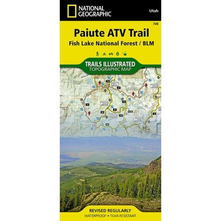 National Geographic Paiute ATV Trail Map