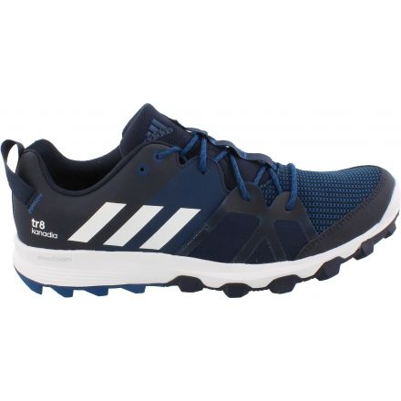 Adidas Outdoor Kanadia 8 Trail Running Shoe - Men s-Navy White Steel- 93e15048596