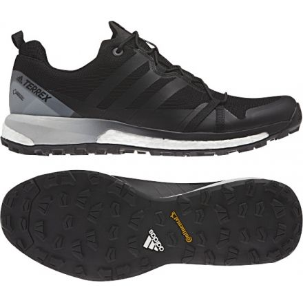 another chance 9221c 9f73b Adidas Outdoor Men s Terrex Agravic Trailrunning Shoes, Black Black White,  14 US