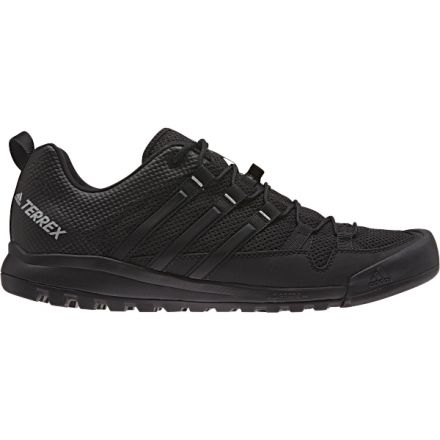 new product 0ee95 ad575 Adidas Outdoor Terrex Solo Approach Shoe - Men s-Dk Grey Blk CH Grey