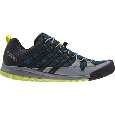 Adidas Outdoor Terrex Solo Approach Shoe  MensMystery Green Black Semi  Solar