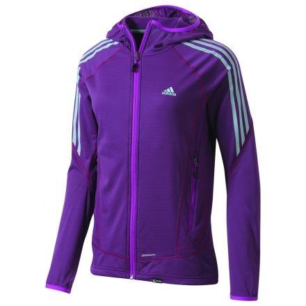 530ebc85fdc1b Adidas Outdoor Terrex Swift Light Hoodie Soft Shell - Women s-Vivid Pink-X-