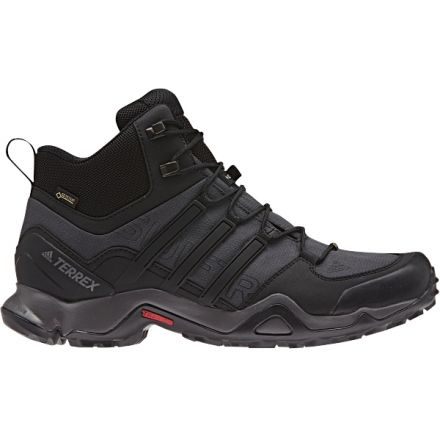 2bcd1329f89b6 Adidas Outdoor Terrex Swift R Mid GTX Hiking Boot - Men s-Dk Grey Blk