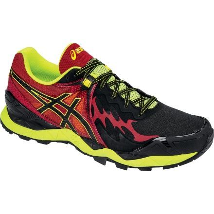 Gel-FujiEndurance Trail Running Shoe - Mens-Black/Onyx/Red-Medium