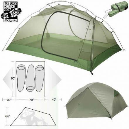 sc 1 st  C&Saver.com & Big Agnes Emerald Mountain SL3 Tent - 3 Person u2014 CampSaver
