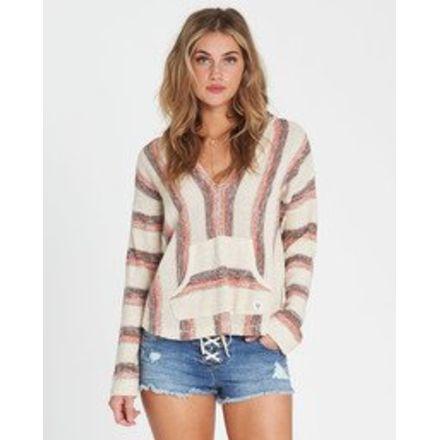 242d375603 Billabong Baja Beach Hooded Sweater - Womens, Fire, Medium, JV01QBBA-FIR-