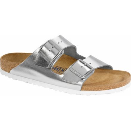 dd3ea1718 Birkenstock Arizona Metallic Soft Footbed Sandal - Women s-Silver-Narrow-38