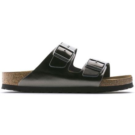 2ba7d9b49 Birkenstock Arizona Soft Footbed Leather Sandals - Womens, Anthracite  Leather, Medium, 37,