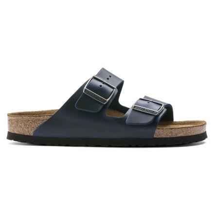 d2f5cb86b Birkenstock Arizona Soft Footbed Oiled Nubuck Leather Sandals - Womens, Blue  Oild Leather, Medium