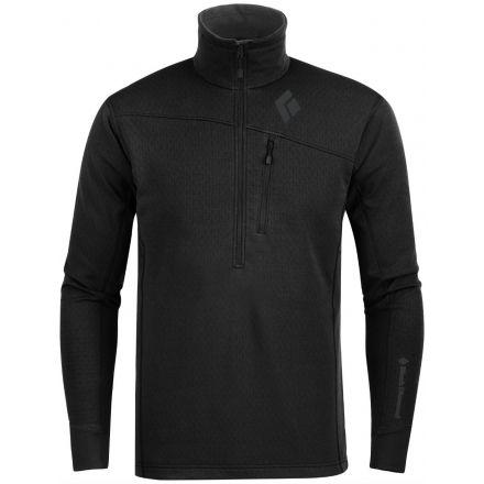12cce71b0d1c0 Black Diamond Coefficient 1/4 Zip Jacket - Mens-Black-Large