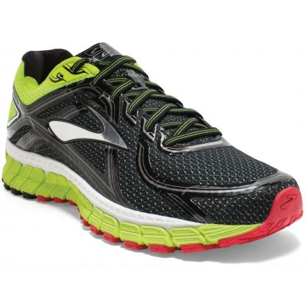 Adrenaline GTS 16 Road Running Shoe - Mens-Black Nightlife HighRiskRed-Wide 71a7db209