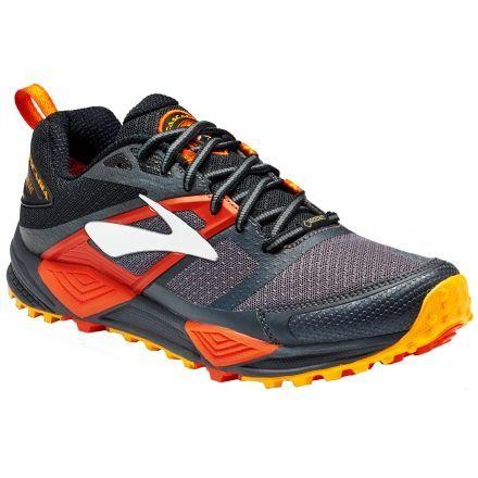 fd8db1764d2 Brooks Cascadia 12 GTX Trail Running Shoe - Men s-Black Ebony Cherry Tomato
