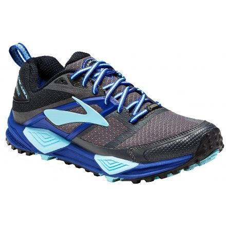eef54c35b1d Brooks Cascadia 12 GTX Trail Running Shoe - Women s-Black Ebony Clematis  Blue