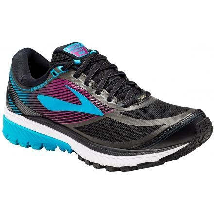 e44db3d1bfb Brooks Ghost 10 GTX Road Running - Women s-Black Peacock Blue Hollyhock-