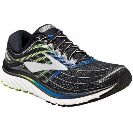 b67c80422f0fa Brooks Glycerin 15 Road Running Shoe - Men s-Black Electric Blue Green-