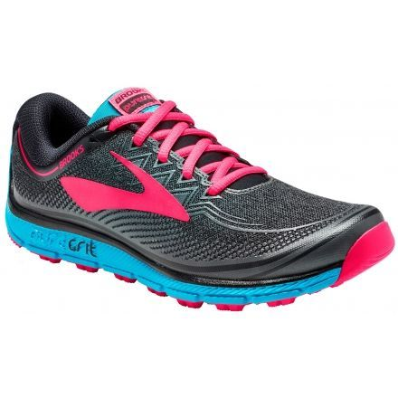 1c632b1b6e7 Brooks PureGrit 6 Trail Running Shoe - Women s-Black Ebony Diva Pink-