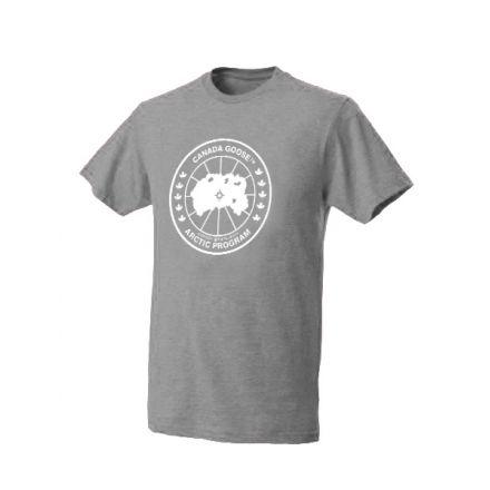Canada Goose Logo T-Shirt - Men's-Heather Grey-Large