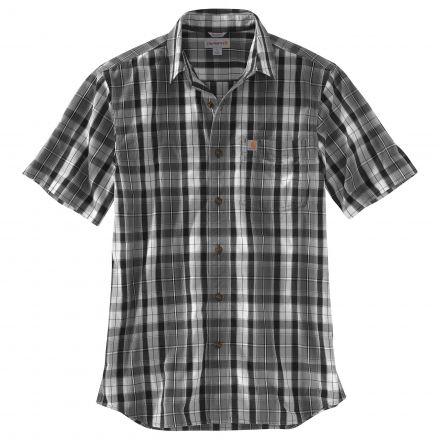 41808d0974f Carhartt Essential Plaid Open Collar Short Sleeve Shirt - Mens