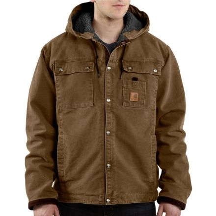 c6970bb8a0d Carhartt Sandstone Hooded Multi Pocket Jacket Tall - Mens -Frontier Brown- Large