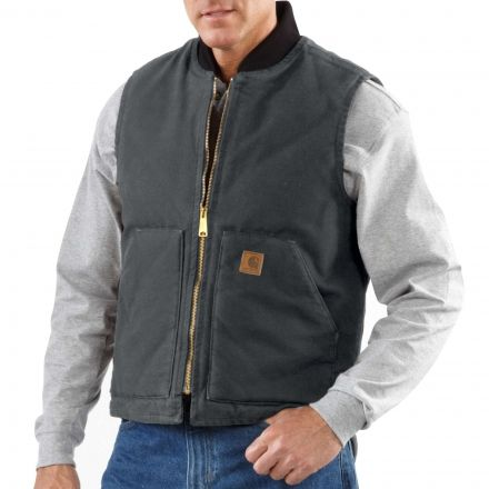 a4300bc8d91 Carhartt Arctic-Quilt Lined Sandstone Vest - Mens, Up to 26% Off ...