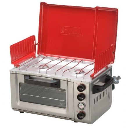 coleman camp propane stove oven combo campsaver