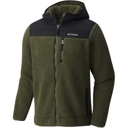 d80de958d94 Columbia Mountain Side Heavyweight Full Zip Hoodie-Surplus Green Black-Small