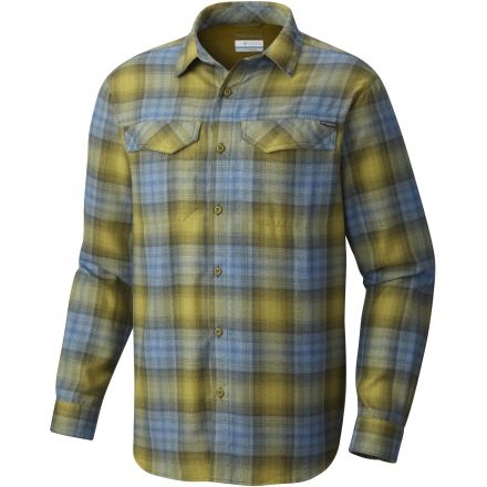 fe47f147923 Columbia Silver Ridge Flannel Long Sleeve Shirt - Men's-Mossy Green-Large