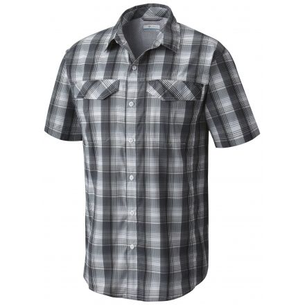 a2d694e7d62 Columbia Silver Ridge Lite Plaid Short Sleeve Shirt - Mens, Shark Plaid, S,