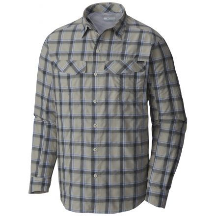 f537fc45057 Silver Ridge Plaid Long Sleeve Shirt - Mens-Stone Heather Plaid-X-Large