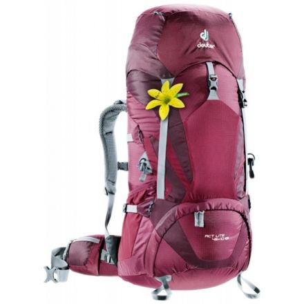 eaf983aca43 Deuter ACT Lite 45 + 10 SL Backpack-Blackberry/Aubergine — CampSaver