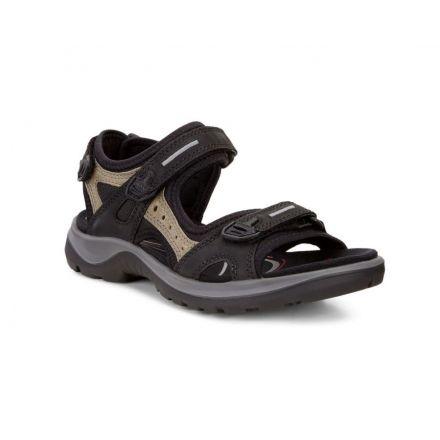ECCO Yucatan Offroad Nubuck Sandals - Women's, Black/Mole/Black, 35 EU