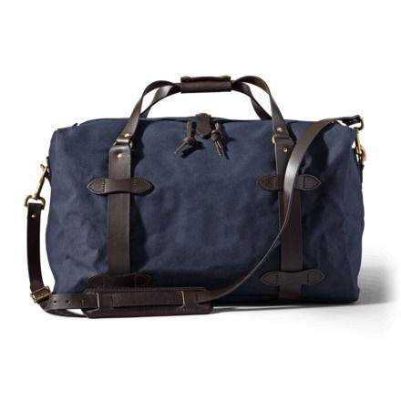 6d5ed7f44a43 Filson Medium Rugged Twill Duffle Bag 11070325-Navy-OS - Brass with ...