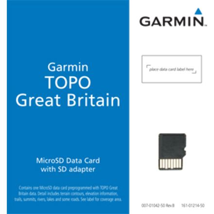 Garmin On the Trail Maps GPS TOPO Great Britain - Northern England