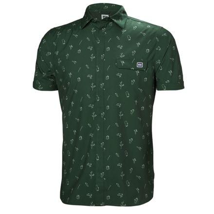 75865fdb0f194 Helly Hansen Oya Short Sleeve Shirt - Mens, Jungle Green Print, Small, 62854