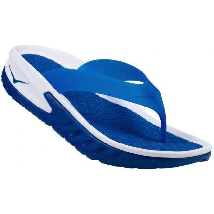 88962962ef97 Hoka One One Ora Recovery Flip Sandal - Men s-White True Blue-Medium