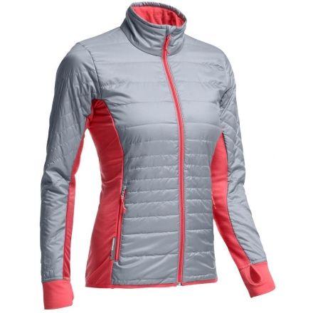 Icebreaker Helix Long Sleeve Zip Jacket - Womens-Mineral/Grapefruit-Small