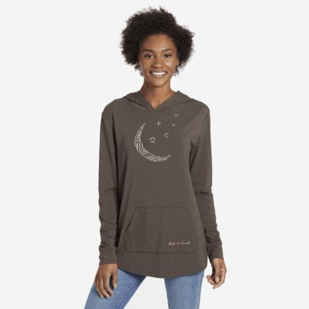 e39fbd6af599 Life Is Good Supreme Moon Pattern Hooded Pullover Women s 53526-S ...