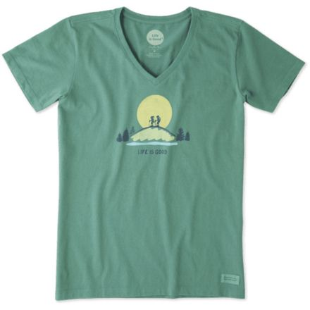 c3d825950 Life Is Good Vista Hike Crusher Tee Women's 54051-S, 43% Off — CampSaver
