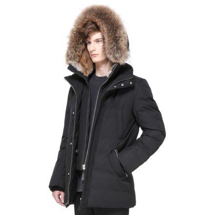 premium selection 124a9 bebdb Mackage Edward Hip Length Down Winter Parka With Fur - Mens